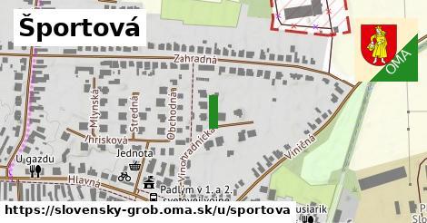 ilustračný obrázok k Športová, Slovenský Grob