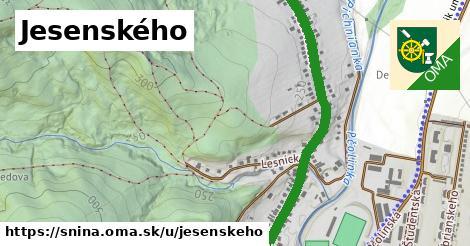 ilustrácia k Jesenského, Snina - 1,83km