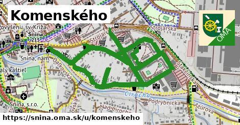 ilustrácia k Komenského, Snina - 1,26km