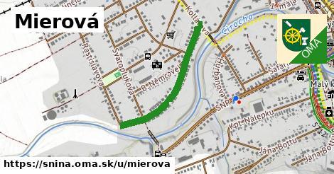 ilustrácia k Mierová, Snina - 622m