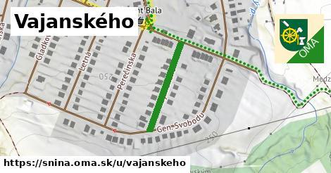 Vajanského, Snina