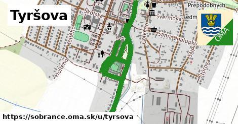 ilustrácia k Tyršova, Sobrance - 1,06km