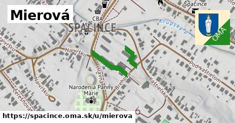 ilustrácia k Mierová, Špačince - 212m