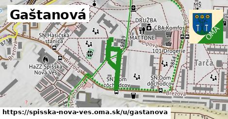ilustrácia k Gaštanová, Spišská Nová Ves - 289m
