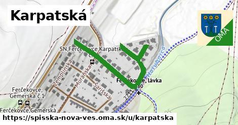 ilustrácia k Karpatská, Spišská Nová Ves - 278m