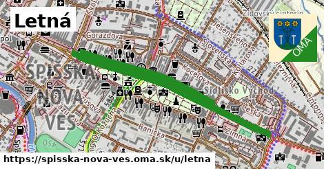 ilustrácia k Letná, Spišská Nová Ves - 0,98km