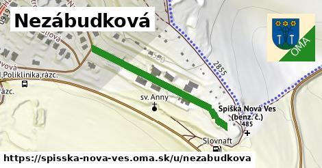ilustrácia k Nezábudková, Spišská Nová Ves - 293m