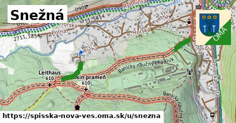 ilustrácia k Snežná, Spišská Nová Ves - 303m