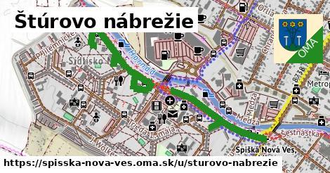ilustrácia k Štúrovo nábrežie, Spišská Nová Ves - 1,32km