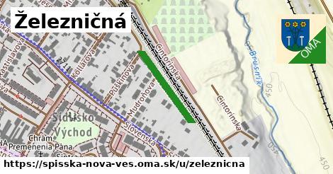 ilustrácia k Železničná, Spišská Nová Ves - 310m