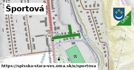 ilustrácia k Športová, Spišská Stará Ves - 206m