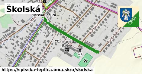 ilustrácia k Školská, Spišská Teplica - 334m
