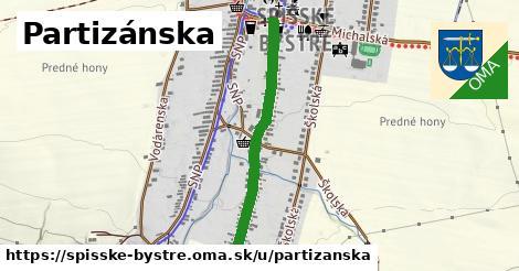 ilustrácia k Partizánska, Spišské Bystré - 684m