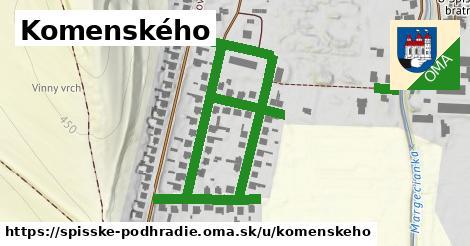 Komenského, Spišské Podhradie