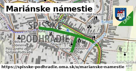 Mariánske námestie, Spišské Podhradie