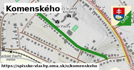 ilustračný obrázok k Komenského, Spišské Vlachy