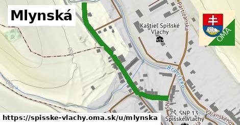 ilustrácia k Mlynská, Spišské Vlachy - 429m
