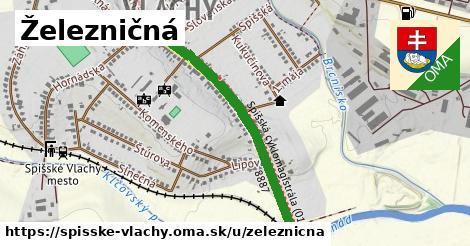 ilustrácia k Železničná, Spišské Vlachy - 0,88km