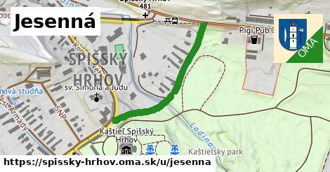 ilustrácia k Jesenná, Spišský Hrhov - 436m