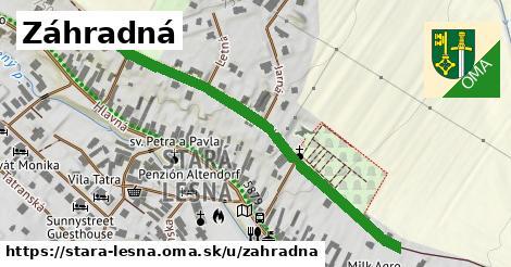 ilustrácia k Záhradná, Stará Lesná - 528m