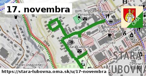 ilustrácia k 17. novembra, Stará Ľubovňa - 0,80km
