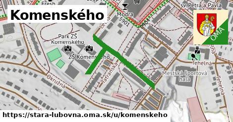 ilustračný obrázok k Komenského, Stará Ľubovňa