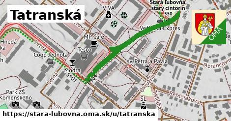 ilustrácia k Tatranská, Stará Ľubovňa - 519m