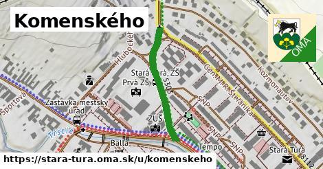 ilustrácia k Komenského, Stará Turá - 272m
