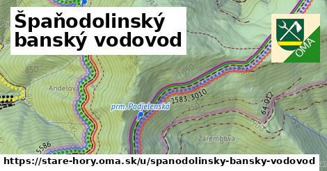 ilustrácia k Špaňodolinský banský vodovod, Staré Hory - 562m