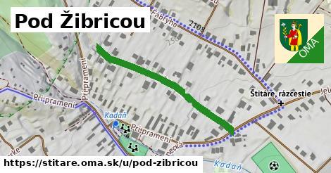 ilustrácia k Pod Žibricou, Štitáre - 368m