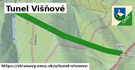 ilustrácia k Tunel Višňové, Stráňavy - 2,7km