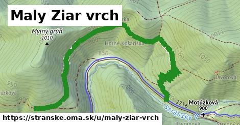 ilustrácia k Maly Ziar vrch, Stránske - 1,88km