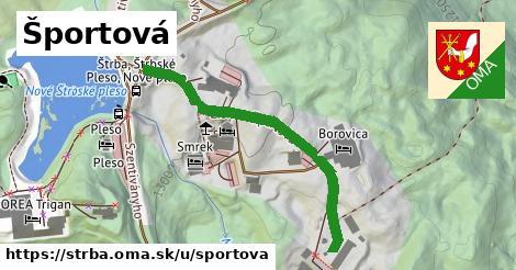 ilustrácia k Športová, Štrba - 439m