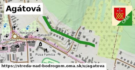 ilustrácia k Agátová, Streda nad Bodrogom - 304m