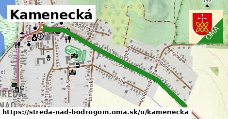 ilustrácia k Kamenecká, Streda nad Bodrogom - 1,08km