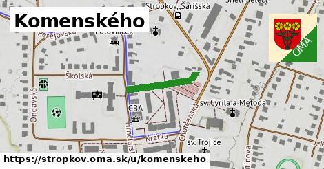 ilustračný obrázok k Komenského, Stropkov