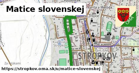 ilustračný obrázok k Matice Slovenskej, Stropkov