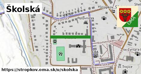 ilustrácia k Školská, Stropkov - 208m