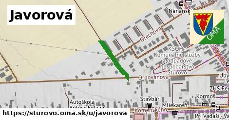 ilustrácia k Javorová, Štúrovo - 154m