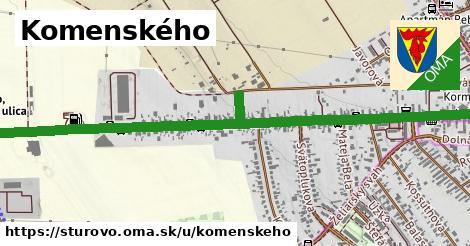 ilustrácia k Komenského, Štúrovo - 1,71km
