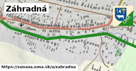 ilustračný obrázok k Záhradná, Šuňava