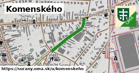 ilustrácia k Komenského, Šurany - 263m