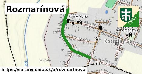 Rozmarínová, Šurany