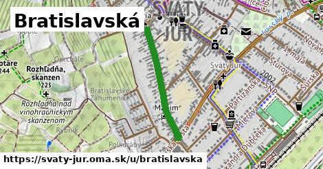 ilustrácia k Bratislavská, Svätý Jur - 550m