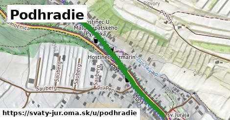 ilustrácia k Podhradie, Svätý Jur - 351m