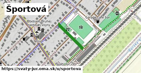 ilustrácia k Športová, Svätý Jur - 184m