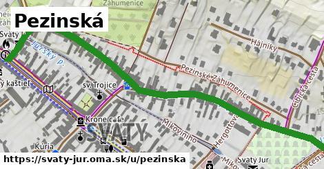 ilustrácia k Pezinská, Svätý Jur - 0,85km
