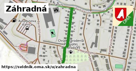 ilustrácia k Záhradná, Svidník - 305m