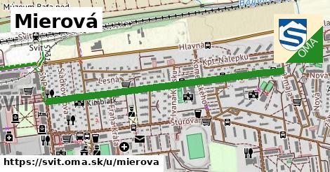 ilustrácia k Mierová, Svit - 1,16km