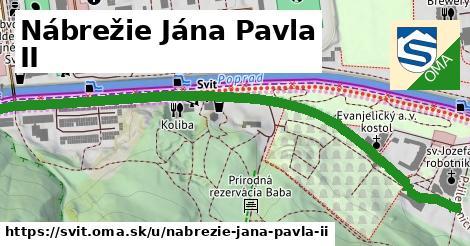ilustrácia k Nábrežie Jána Pavla II, Svit - 0,78km